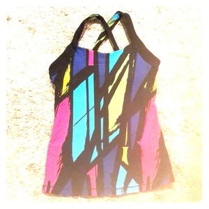Lucy Workout Top *Multi-color *X-back *Like New